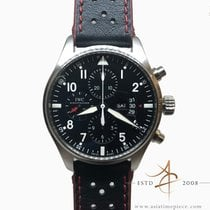 IWC Pilot Chronograph pre-owned 43mm Black Chronograph Date Weekday Leather