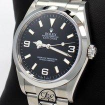 Rolex Steel Automatic Black 36mm pre-owned Explorer