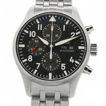 IWC IW3777-10 Steel Pilot Chronograph 43mm pre-owned United States of America, New York, New York