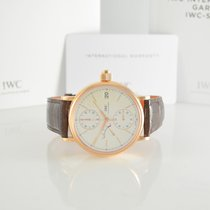 IWC Red gold Manual winding Silver 45mm pre-owned Portofino Hand-Wound