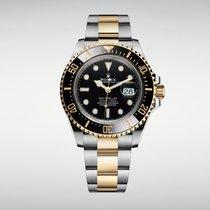 Rolex Sea-Dweller Guld/Stål 43mm Svart Inga siffror