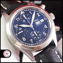 IWC Pilot Spitfire Chronograph Steel 39mm Black Arabic numerals