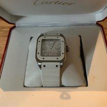 Cartier Santos 100 Сталь Белый Римские