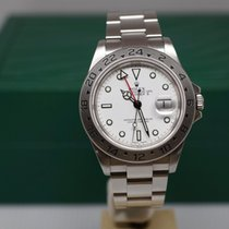 Rolex Explorer II Acier 40mm Blanc Sans chiffres