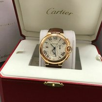Cartier Ballon Bleu 44mm pre-owned 46mm Silver Date Leather