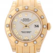 Rolex Datejust Pearlmaster Lady Gelbgold Diamond Automatik...