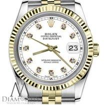 Rolex Lady-Datejust Gold/Stahl 26mm Weiß