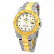 Rolex Stainless 18K Yellow Gold 35m Rolex Yachtmaster Mother...