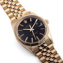 Rolex 1982 34mm 14K Yellow Gold DATE Black Dial w/ Rolex Box