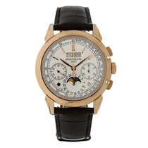 Patek Philippe 41mm Manual winding 2016 new Perpetual Calendar Chronograph Silver