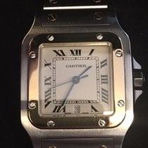 Cartier Santos Galbée Acero y oro 29mm Blanco Romanos