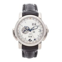 Ulysse Nardin GMT +/- Perpetual White gold 42mm Silver Arabic numerals