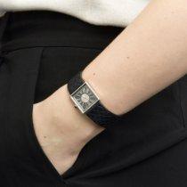 Chanel Mademoiselle Platinum 22mm Black Roman numerals