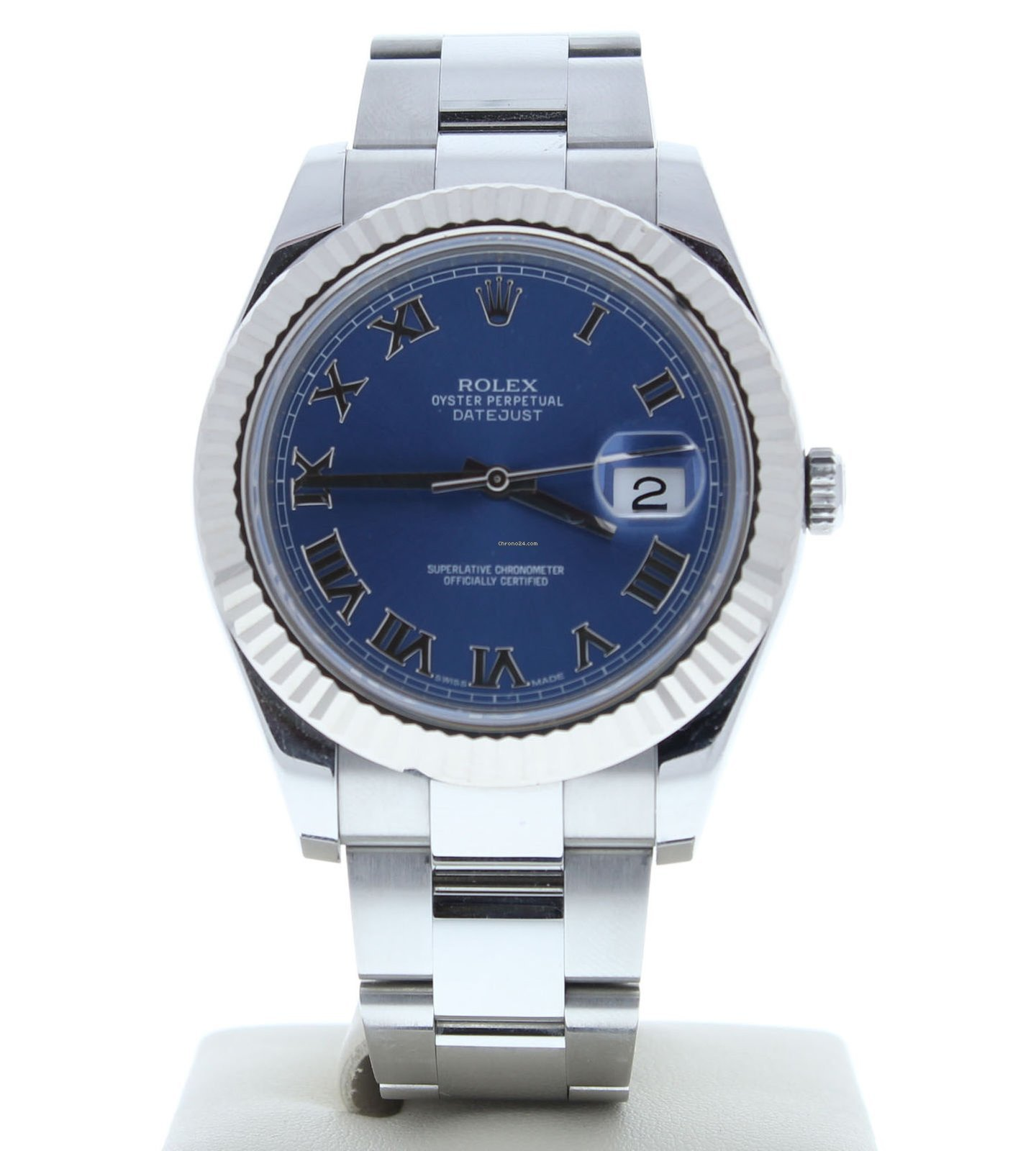 a9d4eb0e44a Rolex Datejust II 116334 Discontinued Watch Blue Roman Dial &... for Rs.  600,650 for sale from a Trusted Seller on Chrono24