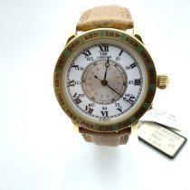 Longines Yellow gold Automatic White Roman numerals pre-owned Lindbergh Hour Angle
