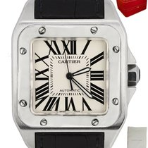 Cartier Santos 100 Steel 38mm White Roman numerals United States of America, New York, Smithtown
