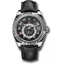 Rolex Sky-Dweller Or blanc 41mm Noir Arabes