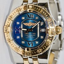 Breitling Galactic 30 pre-owned 30mm Blue Date Gold/Steel