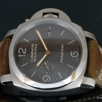 Panerai Luminor Marina 1950 3 Days Automatic pre-owned 44mm Brown Date Leather