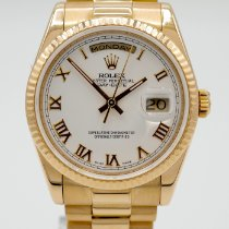 Rolex Day-Date 36 Yellow gold 36mm White United States of America, California, Marina Del Rey