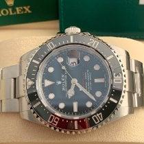 Rolex Sea-Dweller Stal 43mm Czarny Bez cyfr