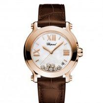 Chopard 277471-5002Happy Sport 36mm Gold Diamonds Pearl Lady