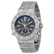 Bulgari Diagono nowość Automatyczny Zegarek z oryginalnym pudełkiem i oryginalnymi dokumentami Ref. DG 40 S GMT