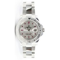 Rolex Yachtmaster Full-Size Unused Stainless Steel & Platinum...