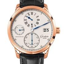 Glashütte Original Rotgold Handaufzug Silber 42mm neu Senator Chronometer Regulator
