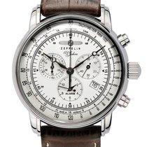 Zeppelin Chronograph 42mm Quarz neu Silber