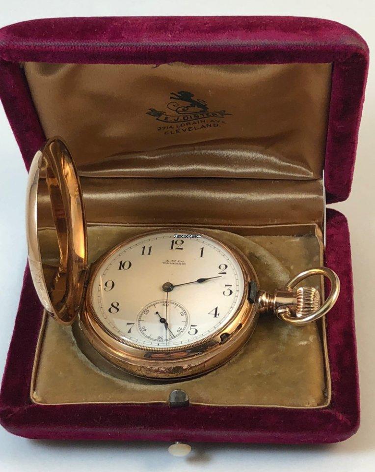952904a08c1f0 Waltham ROYAL 14k ROSE GOLD Hunting Case Model 1888 120 Gr.