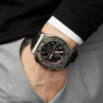 Audemars Piguet Royal Oak Offshore Chronograph tweedehands 48mm Zwart Krokodillenleer