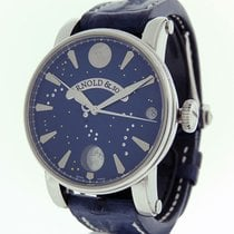 Arnold & Son True Moon Acero 46mm Azul