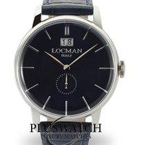 Locman Acier 41mm Quartz 0252V02-00BLNKPB nouveau