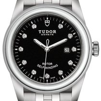 Tudor Glamour Date Steel 31mm Black