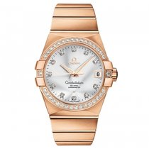 Omega Rose gold Automatic Silver 38mm new Constellation Men