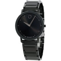 Movado Sapphire Staal 40mm Zwart
