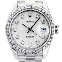 Rolex Platinum Silver 36mm pre-owned Lady-Datejust