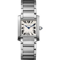 Cartier Tank Française Steel 25mm Silver Roman numerals United States of America, Pennsylvania, Holland
