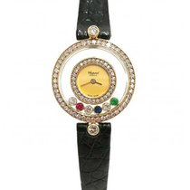 Chopard 20/3957-24 Happy Diamonds in Yellow Gold with Rubies...