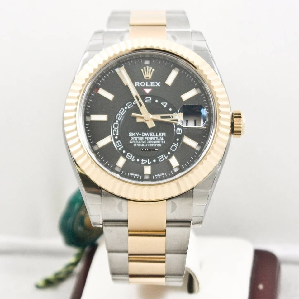 31dd01473be Rolex Sky Dweller 326933 Steel   Gold 2017 Model Box   Papers for ...