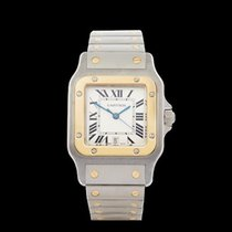 Cartier Santos Galbee Stainless Steel & 18k Yellow Gold Gents...