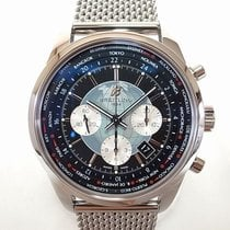 Breitling Transocean Chronograph Unitime Acero 46mm Negro Sin cifras