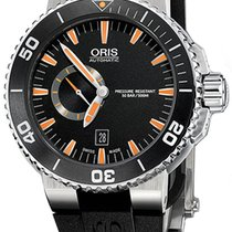 Oris 46mm Automatisk ny Aquis Small Second Svart
