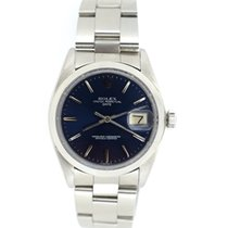 Rolex Date steel with blue colour dial
