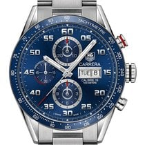 TAG Heuer Carrera Calibre 16 Steel 43mm Blue Arabic numerals