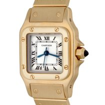 Cartier Santos (submodel) pre-owned 24mm Yellow gold