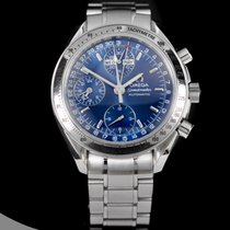 Omega Chronograph 39mm Automatic pre-owned Speedmaster Day Date Blue