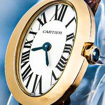 Cartier Baignoire Rose gold 20mm Silver Roman numerals