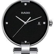 Rado Coupole Staal 36mm Zwart Geen cijfers